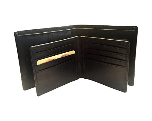 Spikes & Sparrow Alexander RFID Billfold & Credit Card RFID Wallet Combo in Black - Black Signature Leather Spike