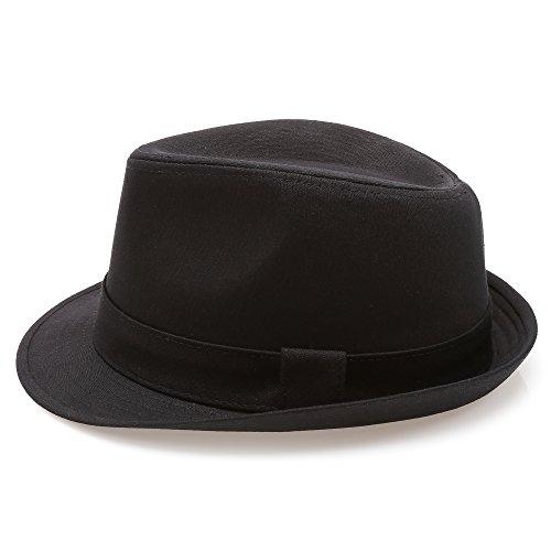 Details about MIRMARU Classic Trilby Short Brim 100% Cotton Twill Fedora Hat  Large  X Large e4406ac1d5fa
