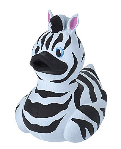 Wild Republic Rubber Ducks, Bath Toys, Kids Gifts, Pool Toys, Water Toys, Zebra, 4