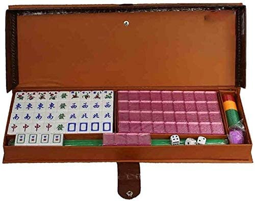 Mahjong Mano Frotar Cristal Hogar Acrílico Viaje Portátil Juego De Mesa,Pink-31 * 23 * 19mm: Amazon.es: Hogar
