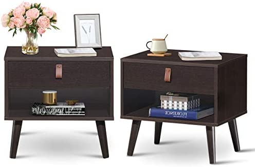 Giantex Wooden Nightstand
