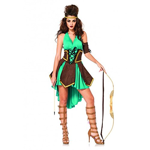 Leg Avenue Women's 3 Piece Celtic Warrior Costume, Turquoise, (Used Womens Halloween Costumes Sale)