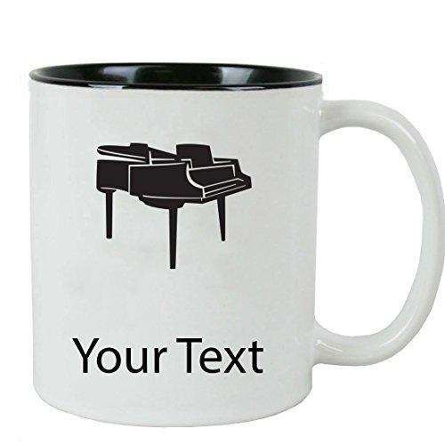 Personalized Custom Piano 11 oz White Ceramic Coffee Mug with White Gift Box