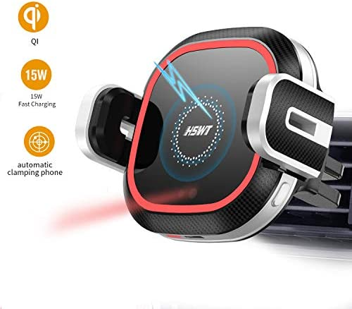 Wireless Car Charger Mount, 10W 7.5W Qi Car Charger Air Vent Phone Holder Wireless Quick Charging Mount for iPhone X XR Xs Max 8 8Plus Samsung Note 9 S9 S9 S8 Edge S7 S6, Automatic Infrared Motion.