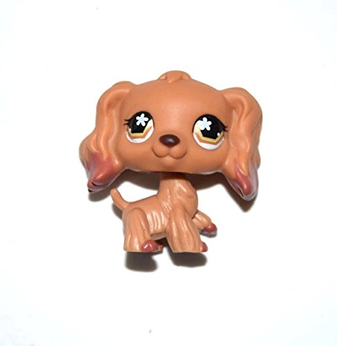 DEEJOE Pet Shop Puppy Brown Flower Eyes Long Hair Ear Cocker Spaniel Dog LPS Action Figure 2