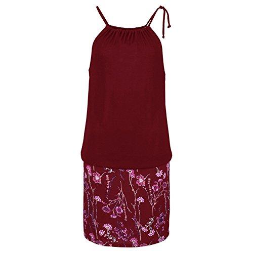 Vestido Vestidos Playa Vestidos Largos Casual Falda Vestidos 2018 Rojo Mini Tirantes Fiesta de Mujer Traje EUZeo Fiesta Vestidos de Playa Floral Estampado Mujer Sexy Elegante Vino Verano Cóctel 44azUvrq