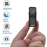 PNZEO PD6 Mini Camera 1080P HD Infrared night-vision wide-angle recorder super-small sport camera Body-worn camera