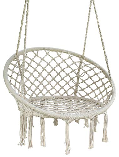 Movement God Hammock Chair Macrame Swing, 265 Pound Capacity, Perfect for Indoor/Outdoor Home Patio Porch Deck Yard Garden by Movement God