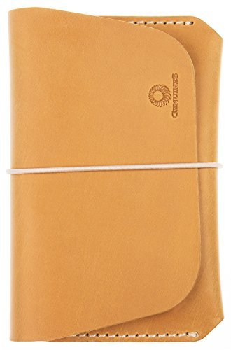 Embassy Brown Bag (Leather Passport Holder for Men & Women - Genuines Wallet Case for 1 or 2 Passports (Mustard))