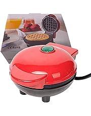 """Mini-wafelijzer 4""""elektrische ronde bakplaat voor individuele pannenkoeken, koekjes, eieren en andere producten voor onderweg Ontbijt, lunch en snacks met indicatielampje"""