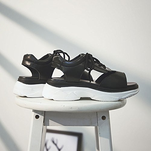 Blanco Negro tacón Zapatos ronda de ZHZNVX para de el bajo PU consuelo Toe verano de mujer sandalias White cumpleaños vawd7qYTw
