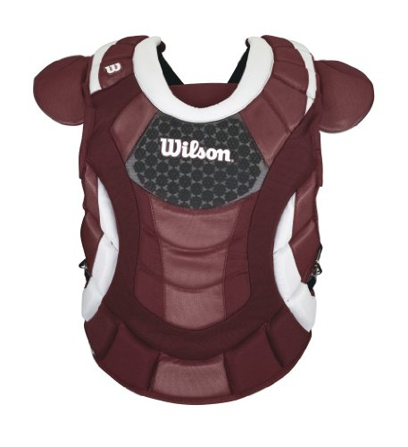 Wilson Promotion Fast Pitch Chest Protector with Isoblox, Maroon, Adult