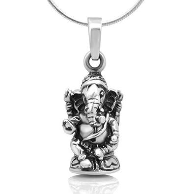 32f2c5f11 Amazon.com: Chuvora 925 Oxidized Sterling Silver 3D Hindu Lord ...