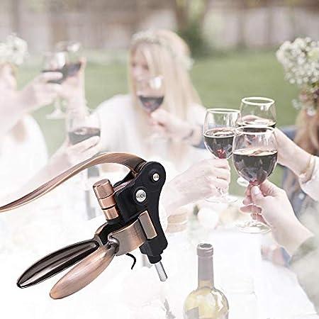 Abrebotellas de vino de acero inoxidable Sacacorchos de vino de conejo Removedor de corcho de botella de vino Adecuado para todo tipo de botellas de vino-A