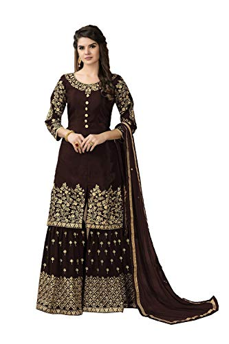 Traditonal Brown Women Pinkcitycreations Kameez Partywear Indian Salwar Designer Ethnic wv6q6Z4X