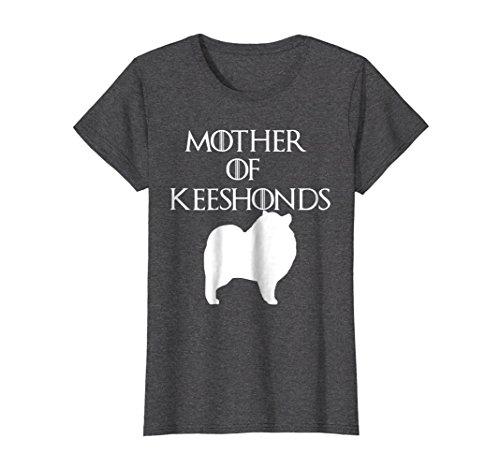 Womens Mother of Keeshonds | Dog Mom T-Shirt & Gift E010674 XL Dark Heather