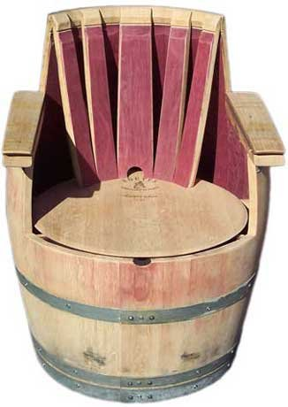 Amazoncom Barrel Chair Full Oak Wine Made From A Wine Barrel By