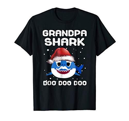 Grandpa Shark Christmas Shirt for Matching Family Pajamas