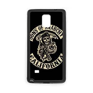Sons Of Anarchy Funda Samsung Galaxy Note 4 Funda Caja del teléfono celular Negro V5J8DS9X Funda caja del teléfono celular de diseño personalizado