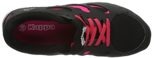 Kappa FOX 241560 - Zapatillas unisex negro - Black - Schwarz (1122 BLACK/PINK)