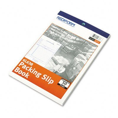 UPC 077925016386, Rediform Packing Slip, Carbonless Duplicate, 5.5 x 7.87 Inches, 50 Sets/Book (6L638)