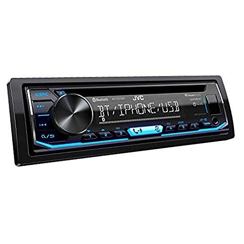 JVC KD-TD70BT CD Receiver Featuring Bluetooth/USB/Pandora/iHeartRadio/Spotify/FLAC / 13-Band EQ (Best Bluetooth Cd Player For Car)
