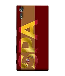ColorKing Football Spain 02 Red shell case cover for Sony Xperia XZ