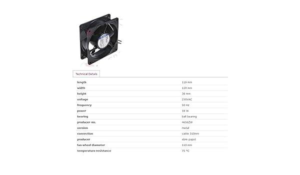 ELECTROLUX ZANUSSI 002690 - Ventilador de refrigeración para horno ...