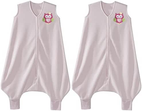 HALO Early Walker Pink Owl SleepSack Micro Fleece Wearable Blanket Set