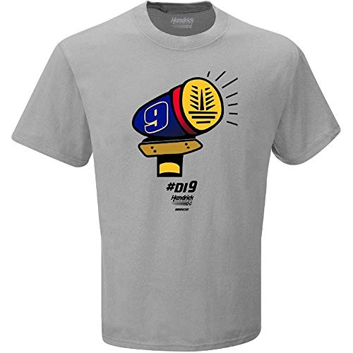 Checkered Flag Chase Elliott 2018 Dawsonville Siren #Di9 Emoji Playoffs NASCAR T-Shirt (Large) ()