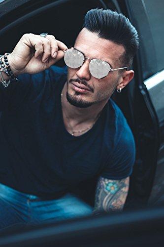 Bronce espejo sol de hombre TWIG Gafas PERET degradadas Marron mujer wH8q7TR