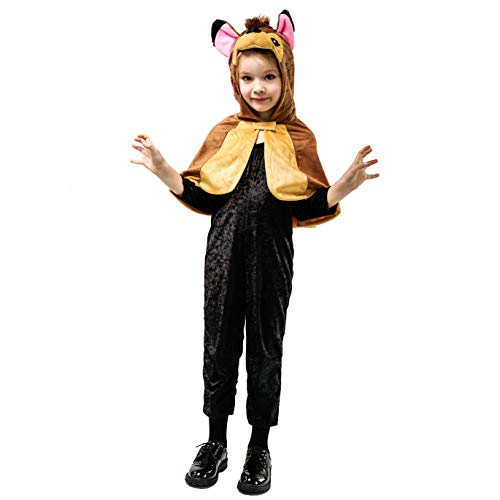 Animal Dress Up Costume Cloak Cape for Kids (4-6Y,Bambi)
