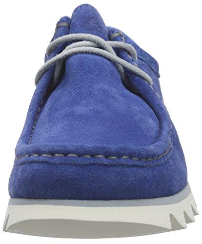 Sioux Mannen Grashopper Uur 161-02 Velours / Textiel Mocassin Blauw (bluette)