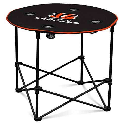 Cincinnati Bengals  Collapsible Round Table with 4 Cup Holders and Carry Bag