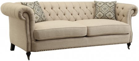 Coaster Home Furnishings 505821 Trivellato Collection Sofa, Oatmeal