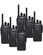 BaoFeng BF-888S(BF-88A) FRS Radio Walkie Talkie 0.5W 16-Channel Two Way Radio with Earpiece, LED Flashlight, USB Charger 6 Pack