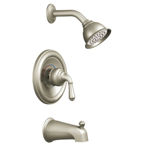 Monticello Faucet Lever Handle (Moen T2449BN Monticello Posi-Temp Tub and Shower Trim Kit without Valve, Brushed)