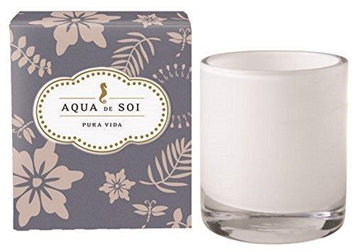 SOI Company Aqua de SOi 100% Premium Natural Soy Candle, 11 Ounces Boxed Jar (Pura Vida) - Pure Soy Jar Candle