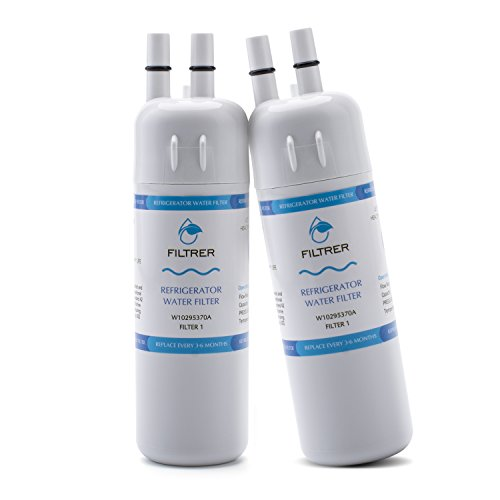 CREIDEA Refrigerator Water Filter compatible for Whirlpool W10295370 W10295370A Kenmore 46-9930 (white, 2 Pack)