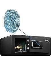Master Lock LX110BEURHRO Biometric Security Safe for Valuables, Black, 19,5 x 43 x 37 cm