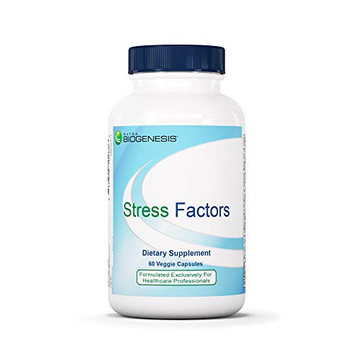 Nutra BioGenesis Stress Factors - Vitamin B6, Lithium and GABA to Help Support Stress Response and Mental Health - 60 Capsules (Best Time Of Day To Take Lithium Orotate)