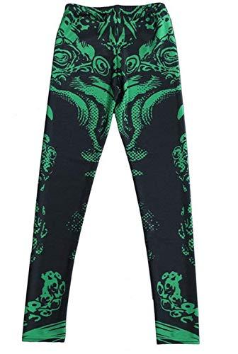 Stretch Pantalones color Leggings Bleached Playa Green Las Medias Elásticos 2 Jeggings Verano De Size M Mujeres Moda Treggings FA0xRqx