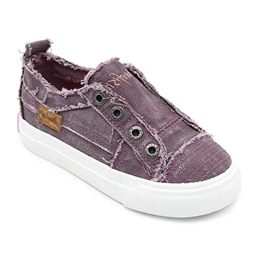 Blowfish Kids Girls' Play-t Sneaker, Sparrow Smoked Canvas, 12 Medium US Little Kid