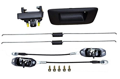 - PT Auto Warehouse GM-8547A-TKCS - Tailgate Handle Lock Assembly, Textured Black, without Keyhole - for Fleetside (Standard) Beds ONLY