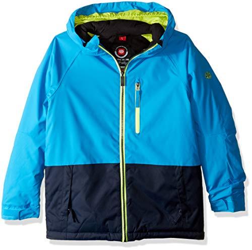 686 Boys' Jinx Insulated Waterproof Ski/Snowboard Jacket | Bluebird Color Block - L (686 Boys Snowboard Jacket)