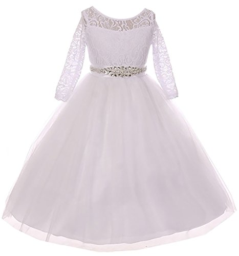 Price comparison product image Big Girl Formal Communion Wedding Bridesmaid Party Girl Dress USA White 20 MBK 372
