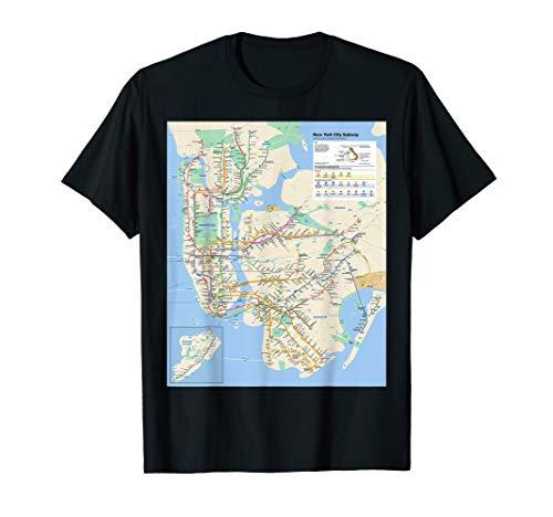 New York City subway map - NYC - USA - T-shirt