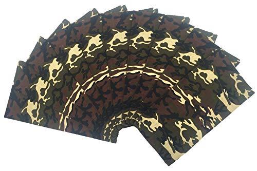 T&Z 100% Cotton 10 Pack Fine Bandanas(Camouflage), Medium]()