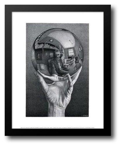 Hand with Sphere 15x18 Framed Art Print by Escher, M.C. (Mc Escher Poster)