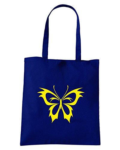 T-Shirtshock - Bolsa para la compra FUN0906 butterfly vinyl window or wall decal 5 03532 Azul Marino